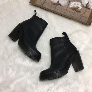 Dr. Martens Black Heeled Boots Sz 8